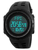 Недорогие Цифровые часы-SKMEI Муж. Спортивные часы Наручные часы электронные часы Японский Цифровой Стеганная ПУ кожа Черный / Зеленый 50 m Защита от влаги Будильник Календарь Цифровой Роскошь На каждый день - Черный Зеленый