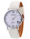 baratos Quartz-Mulheres Relógio de Pulso Relógio Casual / Legal Couro Banda Amuleto / Casual / Fashion Preta / Branco / Marrom