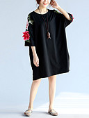 povoljno Maxi haljine-Žene Izlasci Kinezerije Širok kroj Haljina Vez Do koljena