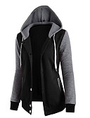 cheap Women's Hoodies & Sweatshirts-Women's Going out Cotton Hoodie - Solid Colored / Fall / Winter / Sporty Look