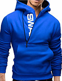 cheap Men's Hoodies & Sweatshirts-Men's Basic / Street chic Long Sleeve Slim Hoodie - Solid Colored Hooded