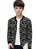 ieftine Maieu & Tricouri Bărbați-Bărbați Mărime Plus Size Șic Stradă Manșon Lung Cardigan - Mată Dungi, Imprimeu În V