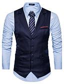 hesapli Erkek Blazerları ve Takım Elbiseleri-Erkek Çentik Yaka İnce Solid Vesta