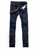 tanie Męskie spodnie i szorty-Męskie Podstawowy Szczupła Spodnie Jendolity kolor