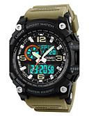 cheap Sport Watches-SKMEI Men's Sport Watch / Military Watch / Wrist Watch Japanese Alarm / Calendar / date / day / Chronograph PU Band Luxury Black / Green / Khaki / Water Resistant / Water Proof / Luminous / Stopwatch