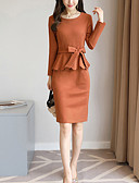 cheap Women's Dresses-Women's Work Sophisticated Street chic Slim Sheath Dress - Solid Colored