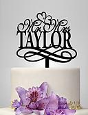 billige Blomsterpikekjoler-Kakepynt Klassisk Tema / Bryllup Plast Bryllup med 1 pcs Polyester Veske