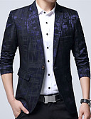 cheap Men's Sweaters & Cardigans-Men's Plus Size Blazer Print / Long Sleeve / Work