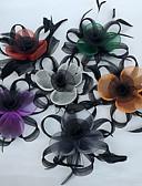 preiswerte Kleider für Junior-Brautjungfern-Feder / Netz Fascinatoren / Blumen mit 1 Hochzeit / Party / Abend Kopfschmuck