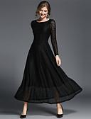 cheap Women's Dresses-SUOQI Women's Lace / Swing Dress - Solid Colored Lace Maxi
