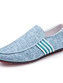 abordables Camisetas y Tops de Hombre-Hombre Lino Primavera / Otoño Confort Zapatos de taco bajo y Slip-On Negro / Gris / Azul