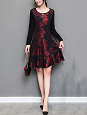 cheap Women's Dresses-Women's Plus Size Going out Street chic Sheath Dress Ruffle / Print