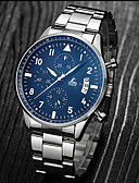 cheap Dress Watches-Men's Sport Watch / Wrist Watch Chinese Calendar / date / day / Water Resistant / Water Proof / Creative Stainless Steel / Leather Band Luxury / Casual / Fashion Black / Silver
