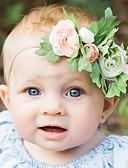 billige Barn Hodeplagg-Baby Jente Aktiv Ferie Blomstret Dekkegarn Hårtilbehør Rød / Rosa / Fuksia En Størrelse / Hårbunt