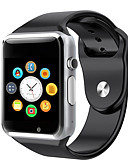 baratos Smartwatches-a1 relógio de pulso bluetooth relógio inteligente pedômetro esporte com câmera sim câmera inteligente para smartphone Android