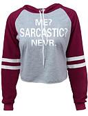 preiswerte Damen Kapuzenpullover & Sweatshirts-Damen Grundlegend Kapuzenshirt Solide / Buchstabe / Frühling / Herbst