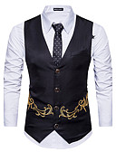 cheap Men's Blazers & Suits-Men's Slim Vest Print
