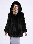 cheap Women's Fur Coats-Women's Cotton Fur Coat - Solid Colored