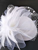 cheap Wedding Veils-Net Fascinators / Hats / Headwear with Floral 1pc Wedding / Special Occasion Headpiece