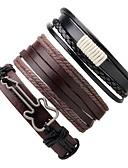 preiswerte Hochzeitskleider-Herrn Damen Wickelarmbänder Lederarmbänder - Leder Gitarre Armbänder Kaffee Für Geschenk Ausgehen