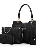 cheap Quartz Watches-Women's Bags PU Bag Set Zipper White / Black / Red