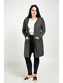 cheap Women's Coats & Trench coats-Cute Ann Women's Vintage Cute Plus Size Trench Coat-Solid Colored,Oversized V Neck