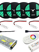 cheap Men's Tees & Tank Tops-JIAWEN 1Set  20M RGB 5050 LED Strip 20A Transformer IP65 Waterproof Strip Light RF Remote Controller Power Adapter