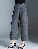 זול מכנסיים לנשים-בגדי ריקוד נשים בסיסי משוחרר משוחרר רגל רחבה מכנסיים אחיד