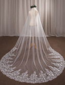 cheap Wedding Veils-One-tier Wedding Veil Chapel Veils 53 Appliques Lace Tulle