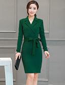 رخيصةأون فساتين للنساء-قبعة القميص سادة - فستان غمد قياس كبير للمرأة