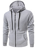 cheap Men's Hoodies & Sweatshirts-Men's Sports Active Long Sleeve Hoodie - Solid Colored Hooded
