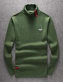tanie Męskie kurtki i płaszcze-Męskie Wełna Golf Pulower Jendolity kolor Długi rękaw