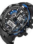 cheap Sport Watches-Men's Women's Sport Watch Military Watch Smartwatch Digital 30 m Water Resistant / Water Proof Alarm Calendar / date / day Silicone Band Analog-Digital Charm Luxury Casual Black - Black Red Blue
