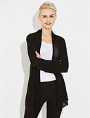 cheap Women's Sweaters-Women's Long Sleeve Cardigan - Solid Colored / Spring / Fall