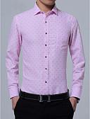 povoljno Muške košulje-Majica Muškarci Rad Na točkice Klasični ovratnik Slim, Print / Dugih rukava