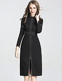 preiswerte Damen Kleider-Damen Klub Chinoiserie Hülle Kleid - Gespleisst, Solide Ständer