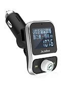 זול מגנים לטלפון-ערכת USB כפול לרכב Bluetooth נגן MP3 מטען ידיים חינם שיחת אלחוטי FM משדר אפנן עם תצוגת LCD