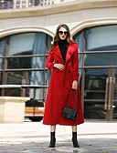 رخيصةأون معاطف و معاطف مطر نسائية-للمرأة معطف - عمل قديم سادة صوف