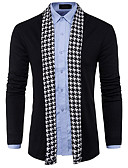 cheap Men's Sweaters & Cardigans-Men's Long Sleeves Long Cardigan - Solid Colored V Neck