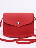 baratos Vestidos de Mulher-Mulheres Bolsas PU Bolsa Transversal Bolsos Vermelho / Rosa / Amêndoa