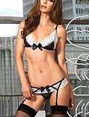 olcso Női hálóruházat-Női Sexy Ultra szexi Hozzáillő topok Csipke fehérnemű Harisnyakötős fehérnemű Hálóruha Színes