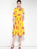 baratos Vestidos Femininos-Mulheres Boho balanço Vestido - Estampado