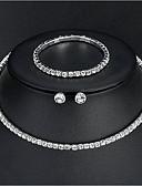 Χαμηλού Κόστους Γαμήλιες Εσάρπες-Γυναικεία Κοσμήματα Σετ - Βασικό, Κομψό Περιλαμβάνω Ασημί Για Γάμου Καθημερινά