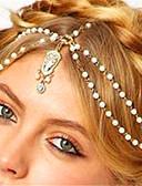 hesapli Kadın Başlıkları-Kadın's Eski Tip Tarz / inci / Boho İmitasyon İnci / Yapay Elmas / alaşım Sa Zinciri / Tatil
