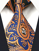 cheap Men's Ties & Bow Ties-Men's Work Rayon Necktie - Floral Color Block Paisley Basic