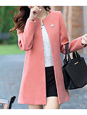 cheap Women's Coats & Trench Coats-Women's Going out Coat - Solid Colored