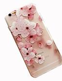 hesapli iPhone Kılıfları-Pouzdro Uyumluluk Apple iPhone 8 Plus / iPhone 8 / iPhone 7 Plus Temalı Arka Kapak Çiçek Yumuşak TPU