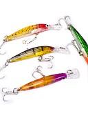 preiswerte Bedruckte Kleider-4 pcs Angelköder Harte Fischköder kleiner Fisch Kunststoff sinkend Seefischerei Köderwerfen Spinnfischen