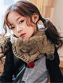 お買い得  子供用 スカーフ-子供 女の子 ニット スカーフ ピンク / カーキ色 フリーサイズ