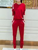 זול חליפות שני חלקים לנשים-מכנס אחיד - טישרט כותנה בגדי ריקוד נשים / קיץ / מראה ספורטיבי